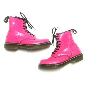 Pink Dr Martens Moto Boots Size 8